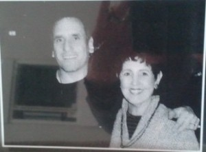 David Broza with Jody's mom 30 years ago