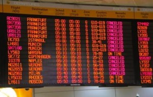 Ben-Gurion flight board