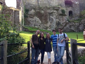 Blum family at Blarney Castle