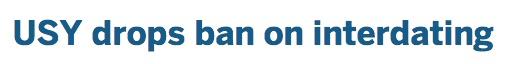 JTA headline USY