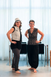 Eve Jacobs with her business partner, Nadia Levene, in one of their Jerusalem Holiday Homes